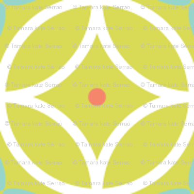 Ring Toss - celery / aqua / coral