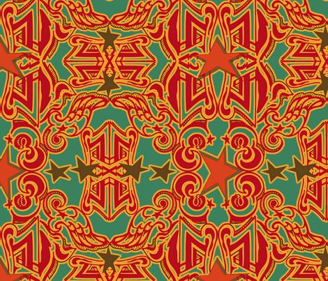 circus_star_2_repeat fabric by 1980aidan on Spoonflower - custom fabric