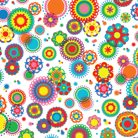 Kaleidoscope fabric by mandakay on Spoonflower - custom fabric