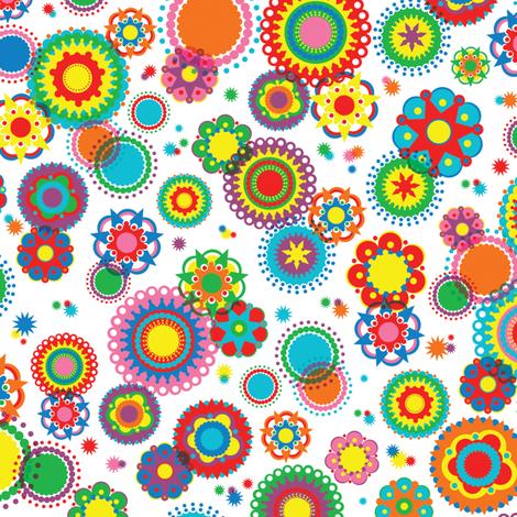 Kaleidoscope fabric by mandakay on Spoonflower - custom fabric