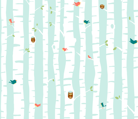 spring trees fabric by sheena_hisiro on Spoonflower - custom fabric