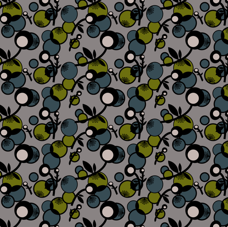 Bubbles and Blooms fabric by gimlet on Spoonflower - custom fabric