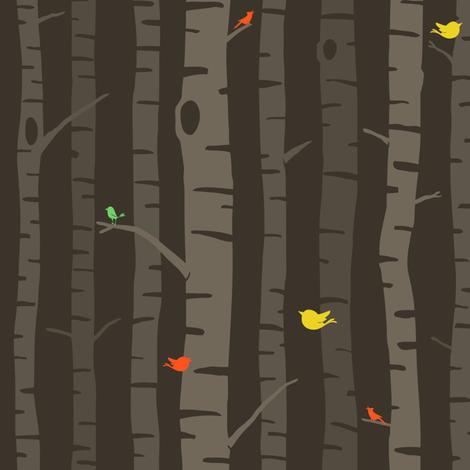 fall trees fabric by sheena_hisiro on Spoonflower - custom fabric