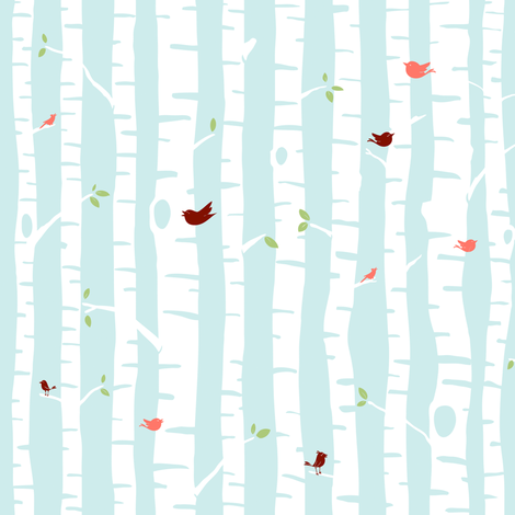 trees fabric by sheena_hisiro on Spoonflower - custom fabric