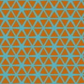 Triangles Orange on Blue