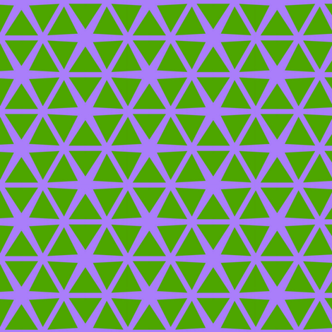 Triangles Green on Purple fabric by stoflab on Spoonflower - custom fabric