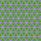 Triangles Green on Purple