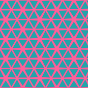Triangles Blue on Pink