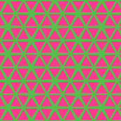 Triangles Pink on Green