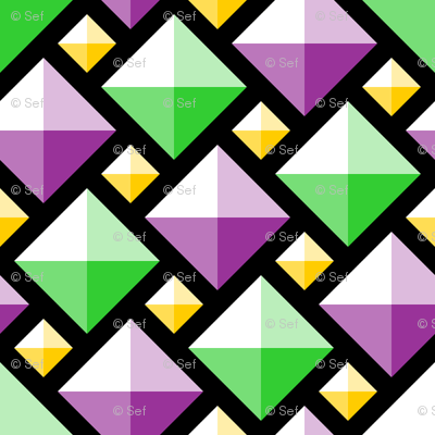 2:1 diamond gems - mardi gras