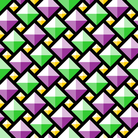 2:1 diamond gems - mardi gras fabric by sef on Spoonflower - custom fabric