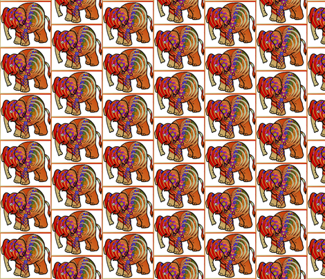 multi_layer_heart_with_flowers_elephant fabric by vinkeli on Spoonflower - custom fabric