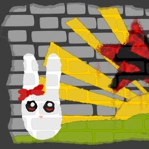 Commie Bunny Graffiti