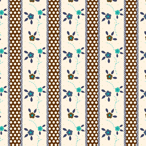 Cute Brown Ribbon fabric by eppiepeppercorn on Spoonflower - custom fabric