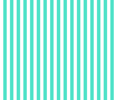 turquoise stripes fabric by xoelle on Spoonflower - custom fabric