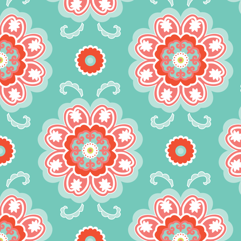 Rose Cloud fabric by kayajoy on Spoonflower - custom fabric