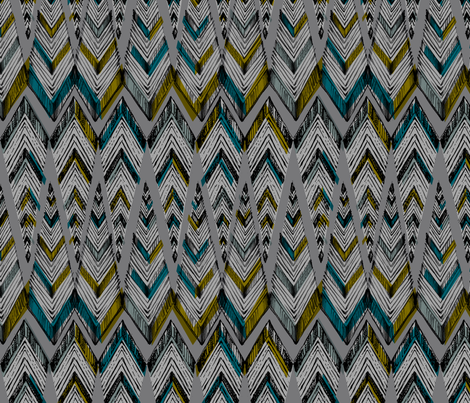 PYRAMID LINE_deep fabric by pattern_state on Spoonflower - custom fabric
