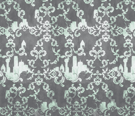 Dallas_Wallpaper-MORNING fabric by pattern_state on Spoonflower - custom fabric