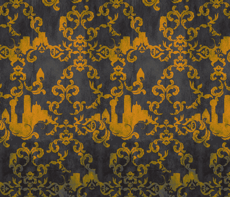Dallas Wallpaper BRONZE fabric by pattern_state on Spoonflower - custom fabric