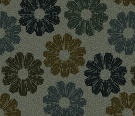 artdecofloral-3x fabric by glimmericks on Spoonflower - custom fabric