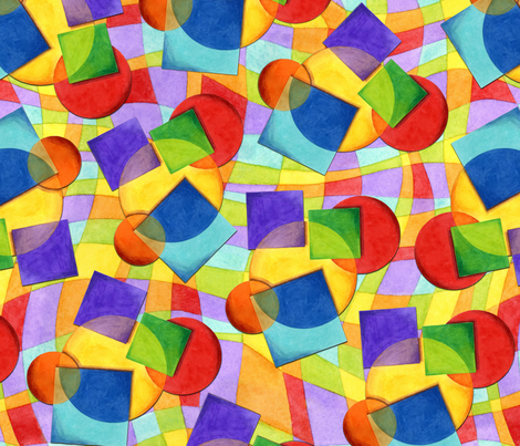 Candy Rainbow Geometric fabric by patriciasheadesigns on Spoonflower - custom fabric