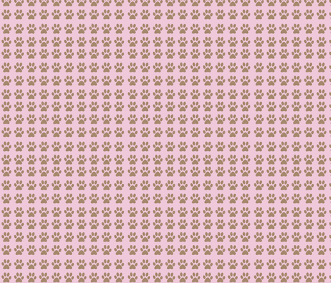 Pink Paws fabric by dogdaze_ on Spoonflower - custom fabric