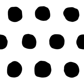 Jumbo Dots in black dots on white