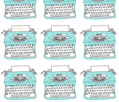 "typewriters at play: 3"" fabric by aubreyplays on Spoonflower - custom fabric"