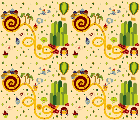 We're Off to See the Emerald City! fabric by jubilli on Spoonflower - custom fabric