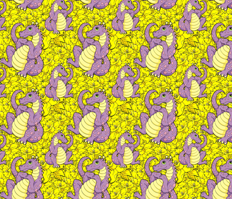 The Easter Dragon fabric by hannafate on Spoonflower - custom fabric
