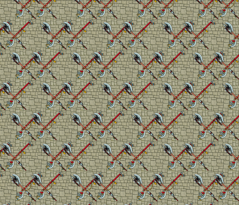 medieval axes fabric by hannafate on Spoonflower - custom fabric