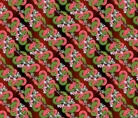 twined dragons fabric by hannafate on Spoonflower - custom fabric