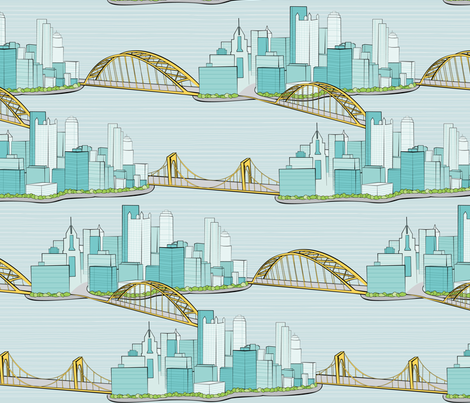 Pittsburgh City of Bridges fabric by wildnotions on Spoonflower - custom fabric