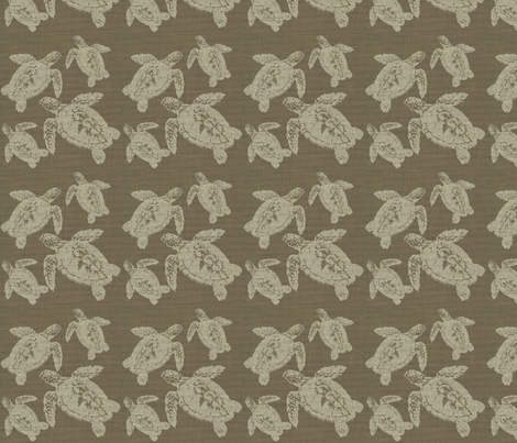 Lagerhead on Tabacco Brown Burlap fabric by retrofiedshop on Spoonflower - custom fabric