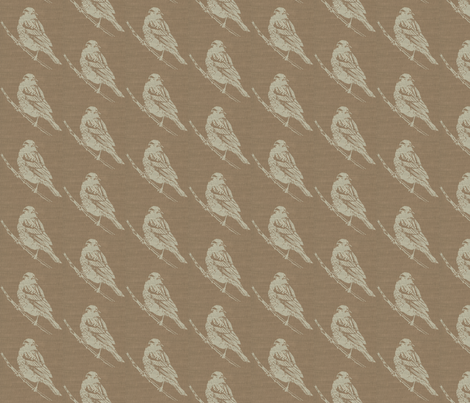 Red Winged Black Bird on Brown Burlap fabric by retrofiedshop on Spoonflower - custom fabric