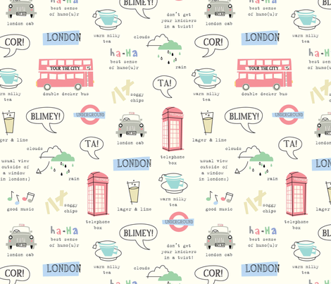 Tour of London fabric by amel24 on Spoonflower - custom fabric