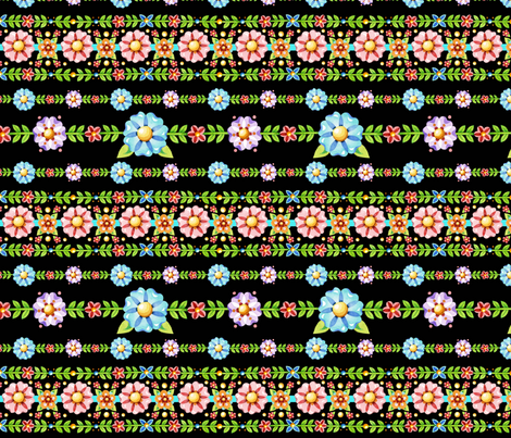 Millefiori Floral Stripe fabric by patriciasheadesigns on Spoonflower - custom fabric
