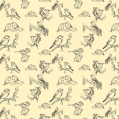 Bird toile (black and cream)