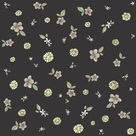 Floral fabric by sheena_hisiro on Spoonflower - custom fabric