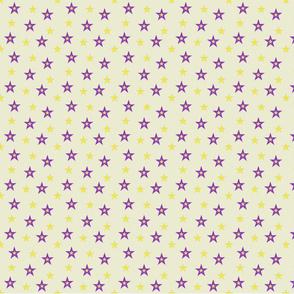 Purple and Yellow Stars (medium)