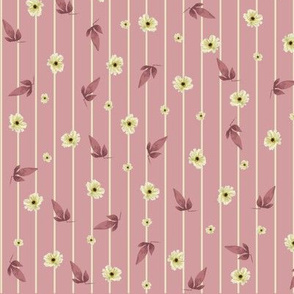 Ditzy Magnolias on Pink