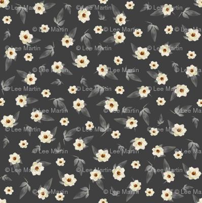 Ditzy Magnolias on Grey