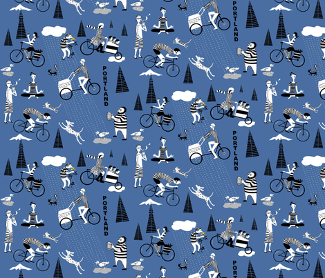 portland_pedal fabric by antoniamanda on Spoonflower - custom fabric
