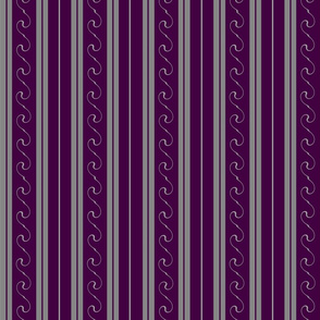 Grey Stripes on Purple