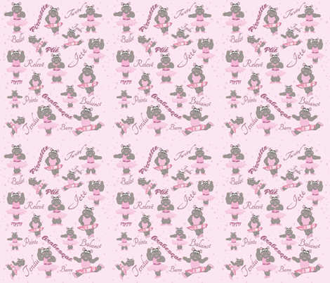 Helena_Hippo fabric by dancingwithfabric on Spoonflower - custom fabric