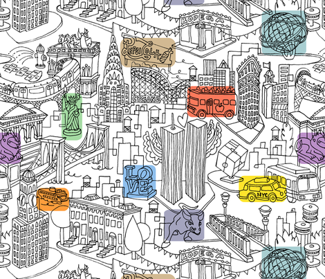 This Is My NY fabric by sammyk on Spoonflower - custom fabric