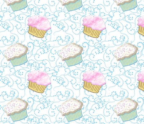 cupcake rumba white fabric by ajr51594 on Spoonflower - custom fabric