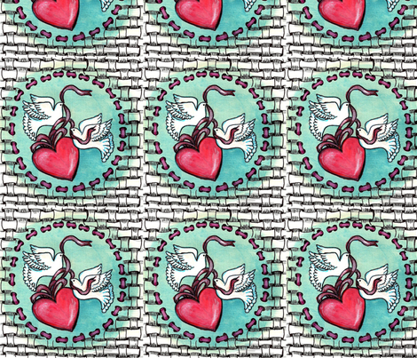 zentangle_e_dove_e_cuore fabric by vinkeli on Spoonflower - custom fabric
