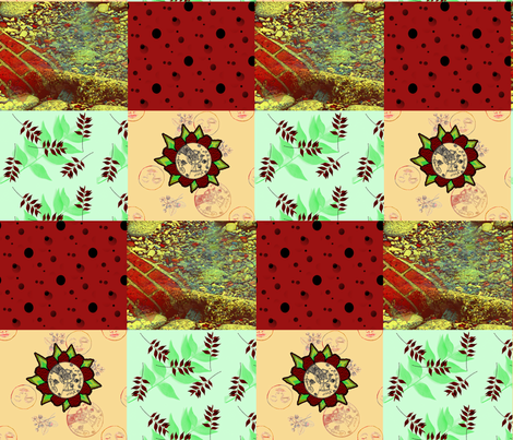 Foursquare, reds fabric by nalo_hopkinson on Spoonflower - custom fabric