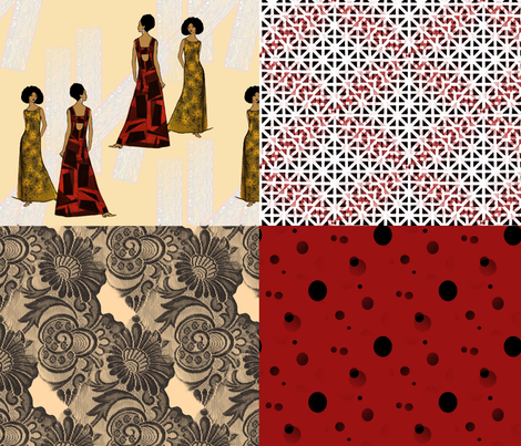 Foursquare, model cheater quilt fabric by nalo_hopkinson on Spoonflower - custom fabric